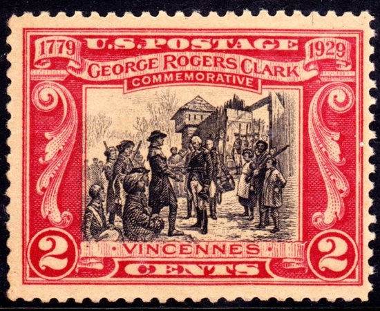 Commemorative stamps George Rogers Clark